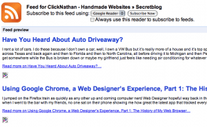 Pretty RSS Feeds in Google Chrome