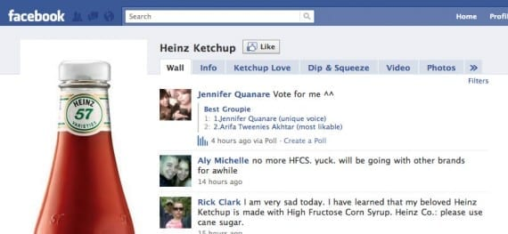 Heinz Ketchup on Facebook