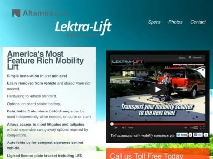 screenshot of altamiramobility.com