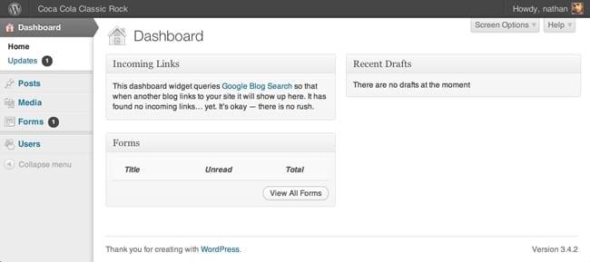 screenshot of a WP Admin interface as per this tutorial