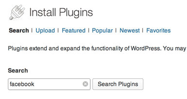 a partial screenshot of the Install Plugins screen in WordPress