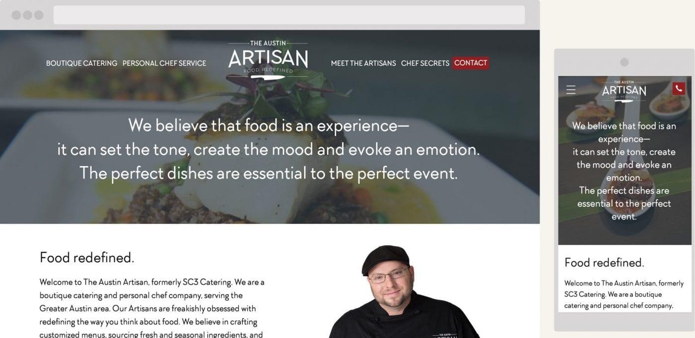 screenshots of the austin artisan