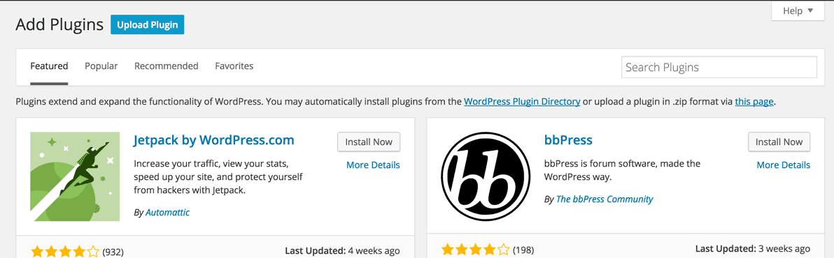 the button to upload a ZIP file plugin