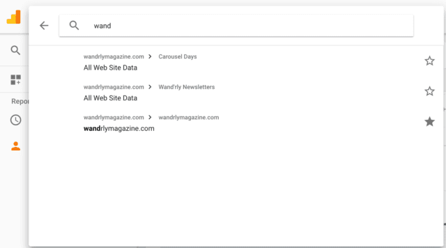 screenshot of the Google Analytics area mentioned in the post.
