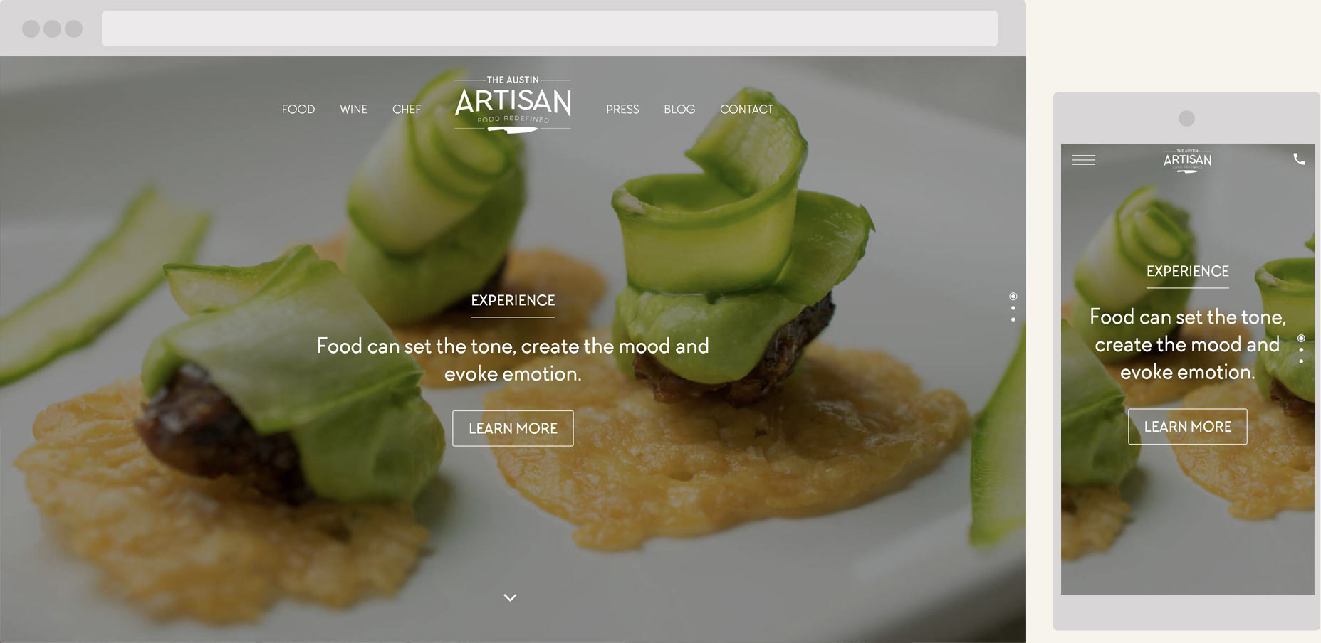 The Austin Artisan personal chef service