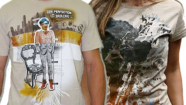 Two t-shirt designs from Design by Humans