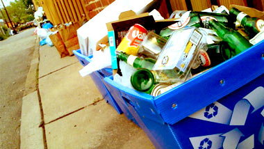 Recycling galore on Shadyside's Tay Way