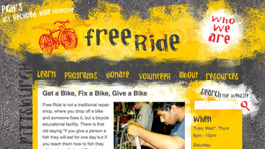 thumbnail image of Free Ride Pittsburgh website - CLICK TO SEE A LARGER VERSION