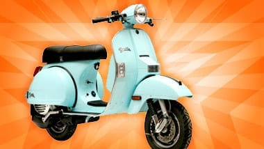 Stella, a light blue 150cc scooter by Genuine