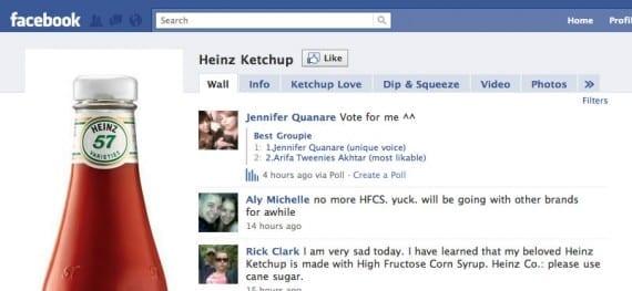 Heinz Ketchup on Facebook