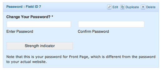screenshot of a password field edit panel in Gravity Forms