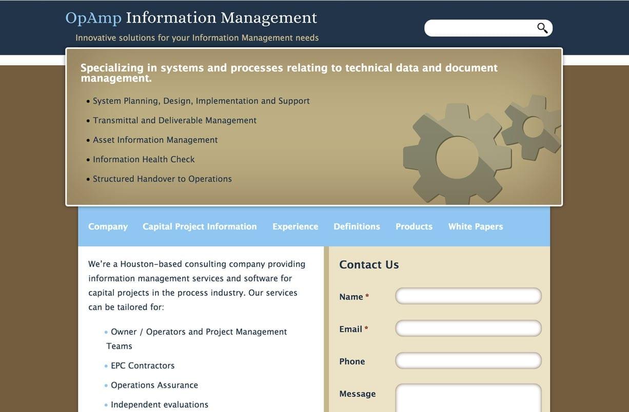 screenshot of opampim.com