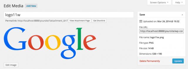 screenshot of the file editor interface in WordPress