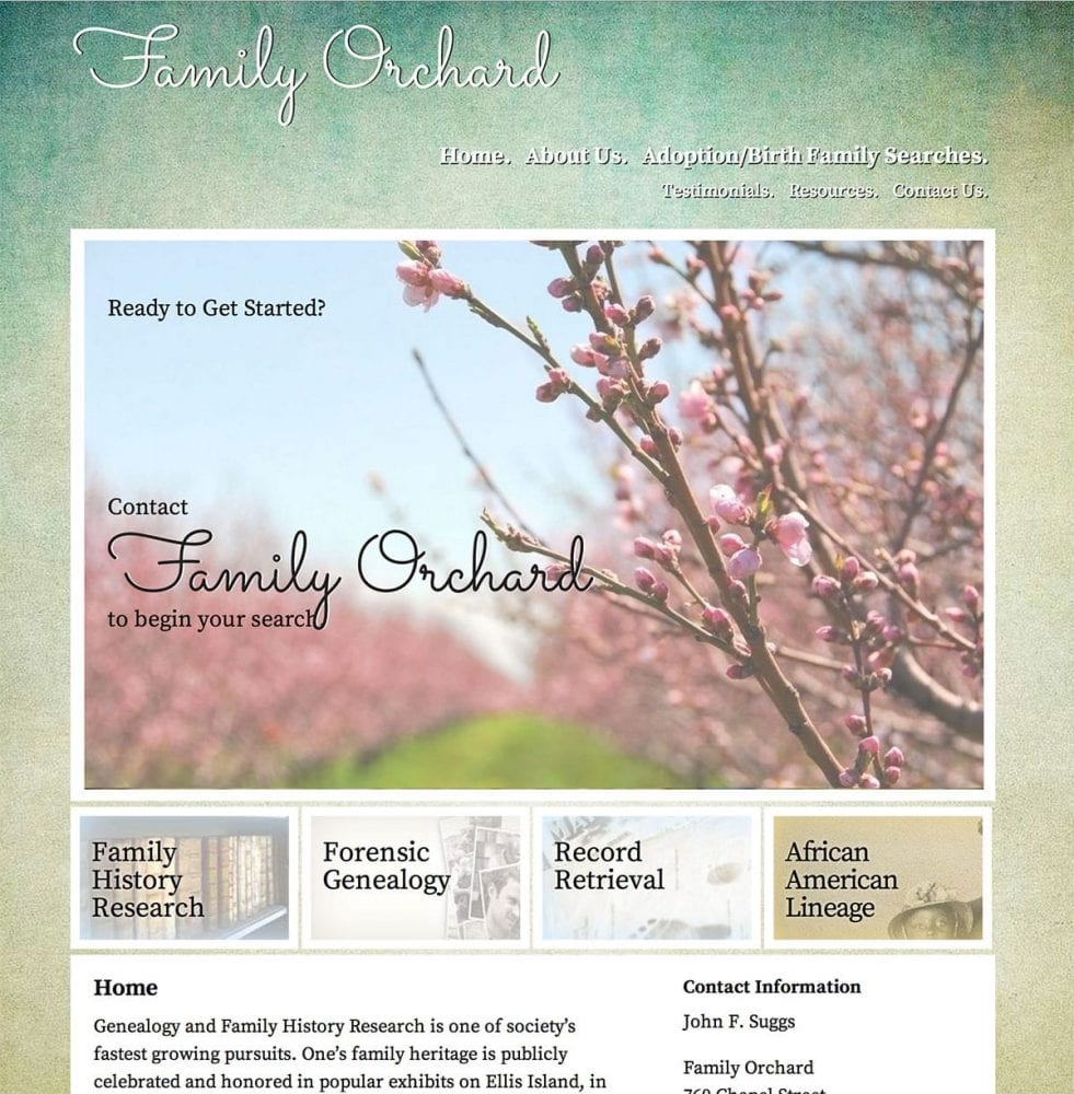 screenshot of family-orchard.com