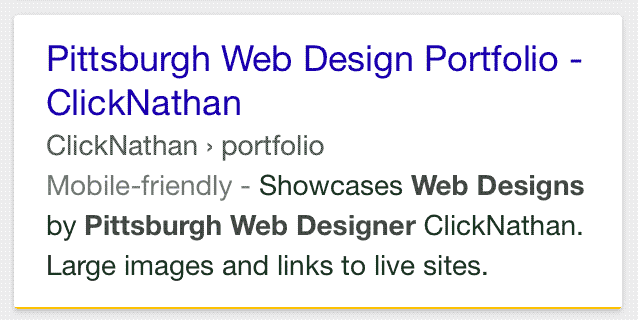 The new way Google will display results, with a website name instead of the entire domain name.