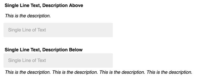 HTML inputs