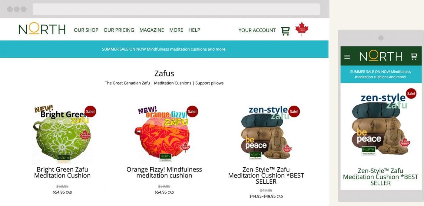 screenshot of northmeditation.com