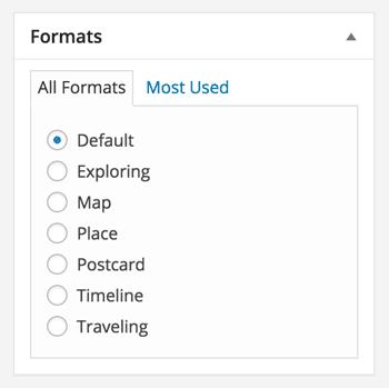 custom post formats