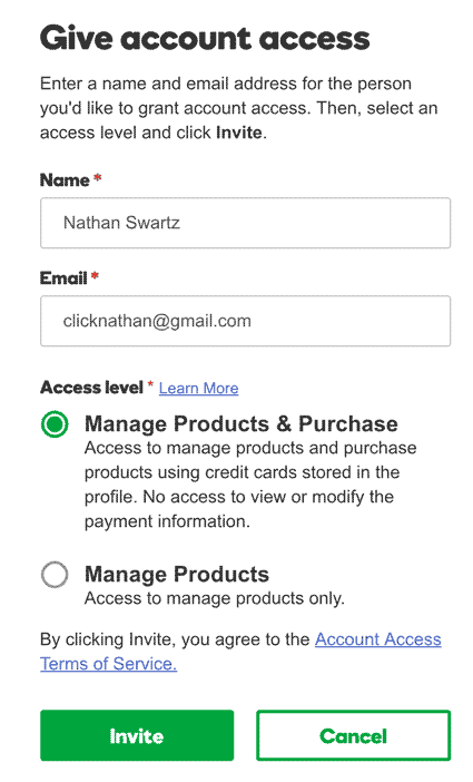 manage products and purchases in GoDaddy