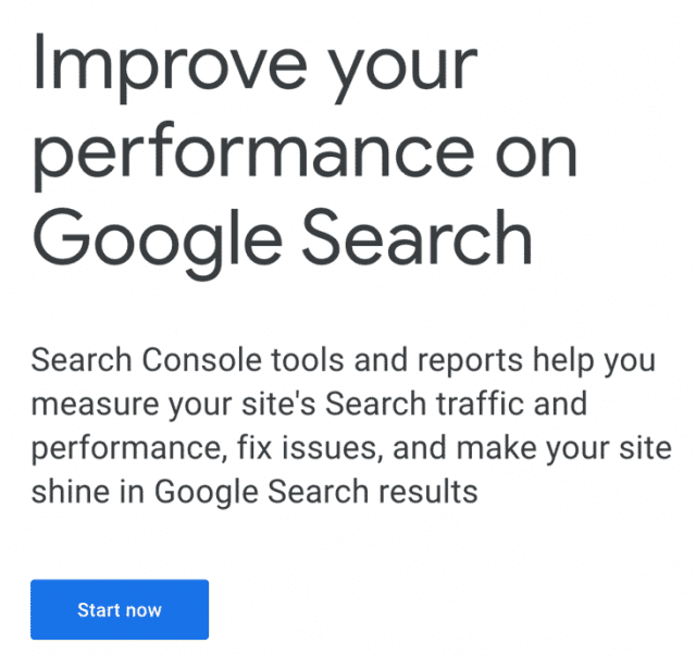 search console sign in screen
